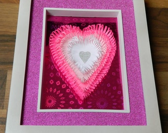 3D Paper Sculpture Hold Me Tight Pink