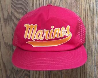 Vintage United States Marine Corps USMC Mesh Trucker Hat Snapback Baseball Cap