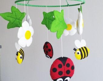 Baby crib mobile, flowers mobile, nursery mobile, baby kit mobile, baby mobile, mobile handing