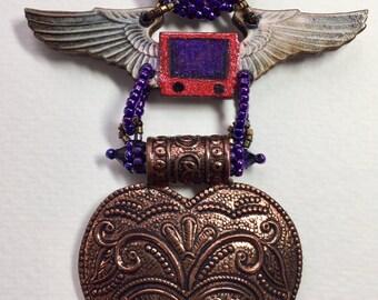 Flying Heart Pendant