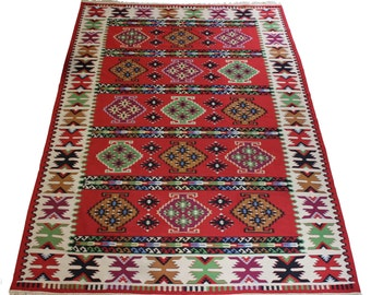 Large Vintage Balkan Kilim Rug