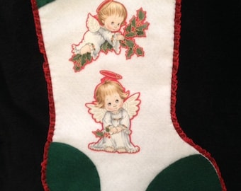 Two Little Angels Christmas Stocking