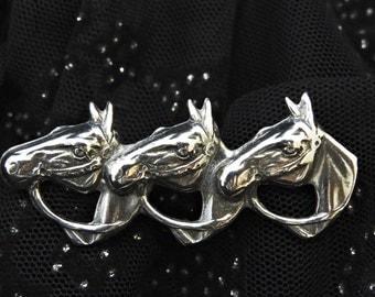 Horse Brooch Sterling Silver, Horse Head Brooch