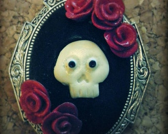 Cameo skull and roses. UNIQUE PIECE