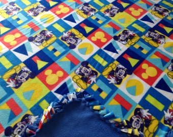 Mickey Mouse fleece tie blanket