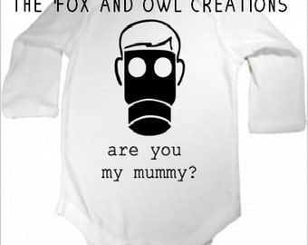 Doctor Who- Are you my Mummy?infant bodysuit
