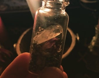 Miniture witch bottle