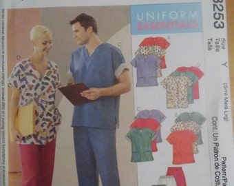 Sewing pattern McCall's 3253 Misses' and men's cardigan, tops and pull-on pants new uncut size S to L