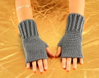 Hand Knitted Fingerless Gloves (Choose your color)