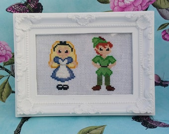 Disney's Peter Pan and Alice in Wonderland Cross Stitch