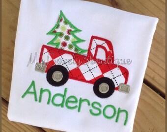 Boys Christmas shirt, Girls Christmas shirt, Christmas truck shirt, Boys Christmas truck, Boys winter shirt