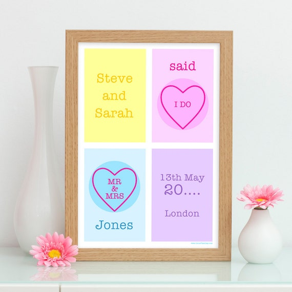 ... Wedding Gift For Bride / Groom / Couple - Gifts For Him / Her - Gay