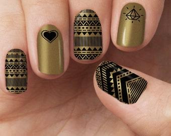 Gold Aztec Polish Wraps