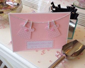 Handmade baby cards