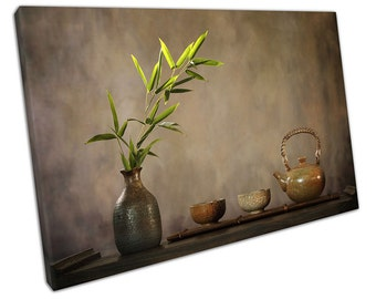 TEA Table Setting Canvas WALL ART C2082