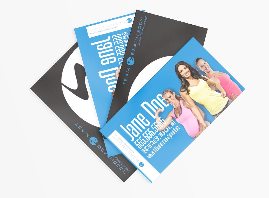 Team Beachbody Business Cards by EightCreate on Etsy