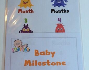 Monthly Baby Milestone Stickers