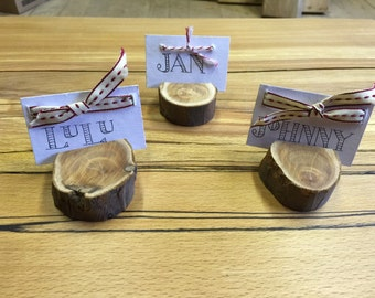 Wooden name place holders