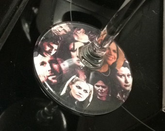 Once Upon a Time Collage Wine Glass