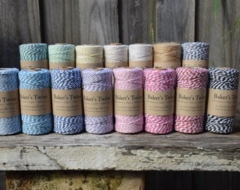 BULK 4x Bakers Twine 100m Spools 12ply 100% Cotton Mix & Match
