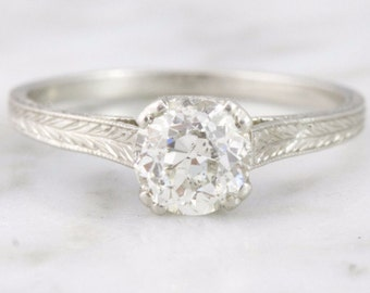 Cecilia 0.68 ct Old European Cut Diamond Engagement Ring