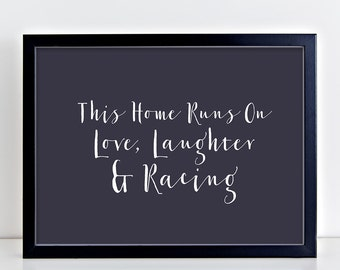 Horse Racing Art Print - Love, Laughter & Racing Print - Horse Racing Art - Equestrian Art