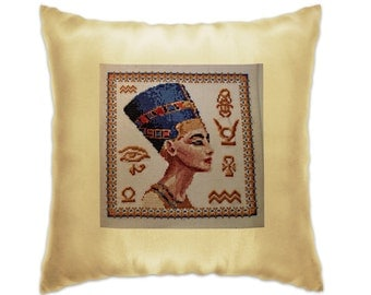 Nefertiti-  pillow with embroidery
