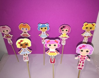 lala loopsy cupcake topper, lala loopsy party  decoration, lala loopsy cupcake, lala loopsy birthday cupcake toppers,  inspired