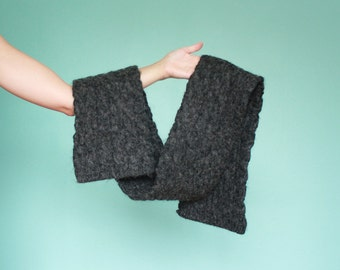 Extra Thick Heather Gray Scarf