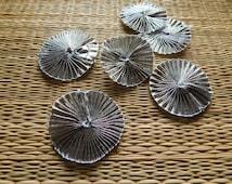 Floral Appliques, Gota Ribbon Flowers, Ethnic Embellishments, Silver Appliques