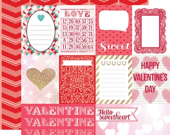 Echo Park Lucky In Love Double Sided Cardstock - Journaling Cards