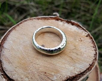 Cast Silver Ring, Size US 9