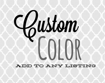 Add a custom color to any listing