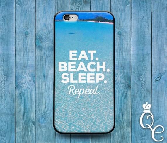 iPhone 4 4s 5 5s 5c SE 6 6s 7 plus iPod Touch 4th 5th 6th Gen Cool Beach Girly Ocean Eat Sleep Repeat Blue Fun Phone Cover Cute Quote Case