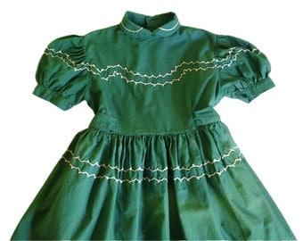 dress child vintage 50s