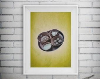 Modern Sushi Art, Asian Food Print, Food Art, Asian Decor, Restaurant Decor, Kitchen Print, Cuisinart Decor, Printable Art, Digital Download