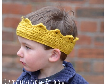Birthday Crown, crochet, Fancy dress, imaginative play, crown hat, king, queen, dressing up box, playroom, nursery, stocking filler.