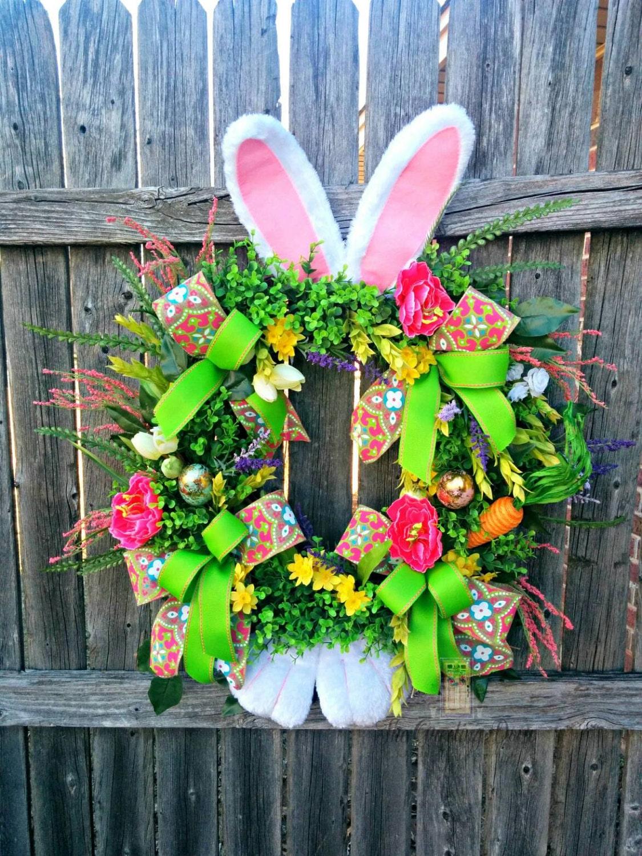 Easter Wreath Easter Bunny Wreath Easter Door By