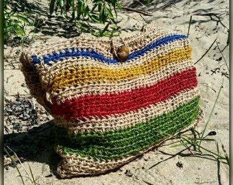 HANDMADE crochet summer HANDBAG 100 % natural JUTE