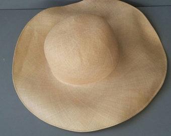Vintage Edward Mann Sun Hat 100% Hemp made in England '50