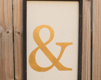 Ampersand - Home Decor - Wood Sign