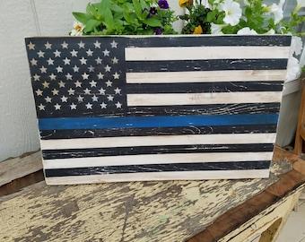 Thin Blue Line Law Enforcement Flag
