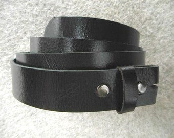 Buffalo Leather * Belt With Snaps * Custom Made Sizes * Five Colors Available
