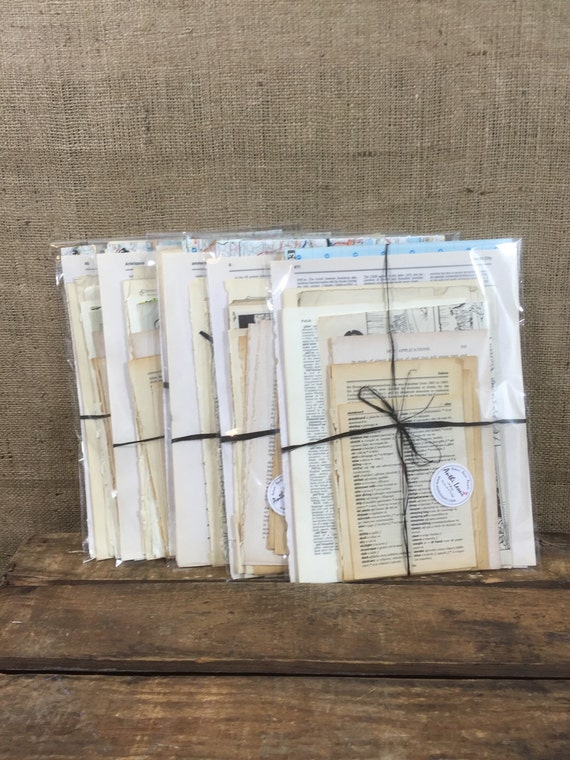 Vintage Craft Papers // Old Book Pages // Dictionary Pages // Old Music Paper // Vintage Book Pages For Crafting Decoupage and Scrapbooking