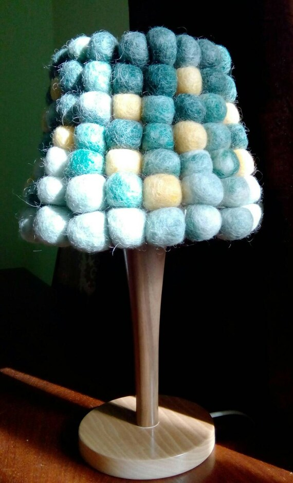 Unique Handmade Felt Lamp Table Lamp Bedside By