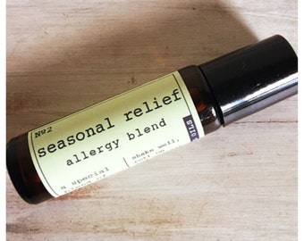 Seasonal relief allergy roller ball blend / blend for allergies / immunity support for allergy season / pure essential oil synergy blend