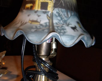 Currier and Ives Lamp