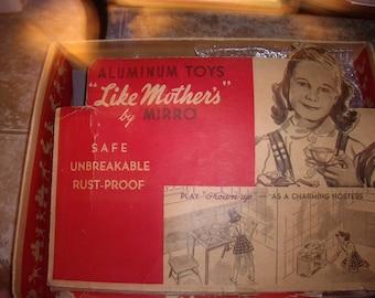 Vintage Mirro Little Mothers Aluminum Toys