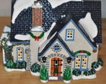 Dept. 56 Set of 3 Snow Village House and Churches