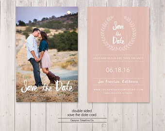 wedding save the date - photo save the date - save the date - printable save the date - no. 001